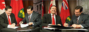 The Honourable Jason Kenney, Minister of Employment and Social Development and the Honourable Brad Duguid, Ontario Minister of Training, Colleges and Universities
